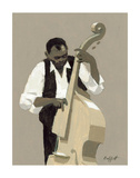 String Bass Player Affiches par William Buffett