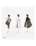 Three Female Fashion Figures, c. 1959 Plakater af Andy Warhol