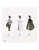 Three Female Fashion Figures, c. 1959 Posters por Andy Warhol