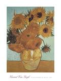Vase mit Sonnenblumen (vor blauem Hintergrund), 1888 Kunstdrucke von Vincent van Gogh