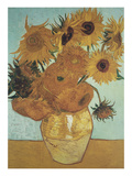 Sunflowers on Blue, 1888 Arte por Vincent van Gogh