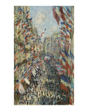 The Rue Montorgueil in Paris Celebration of June 30, 1878 Poster by Claude Monet