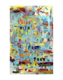 Think With Your Heart Poster di Brigitte Wolf