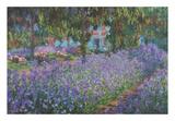 The Artist's Garden at Giverny Kunstdrucke von Claude Monet