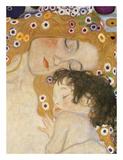 The Three Ages of Woman (detail) Poster av Gustav Klimt