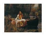 Jomfruen af Shalott, The Lady of Shalott, 1888 Plakater af John William Waterhouse
