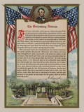 The Gettysburg Address Poster di  Vintage Reproduction