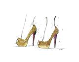 The Golden Heels Affiches par Jessica Durrant