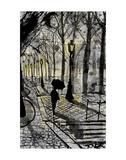 Walking in Montmartre Affiches par Loui Jover