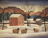 Winter Sheep II Poster by Diane Ulmer Pedersen