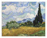 Wheat Field with Cypresses, 1889 Art by Vincent van Gogh