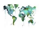 Watercolor Map No. 6 Art par Jessica Durrant