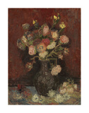 Vase with Chinese Asters and Gladioli, 1886 Plakater av Vincent van Gogh