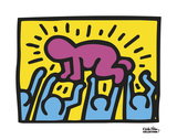 Untitled, 1989 (baby) Stampa di Keith Haring