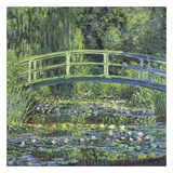 Water Lily Pond, 1899 (blue) Posters af Claude Monet