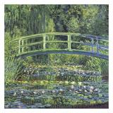 Water Lily Pond, 1899 (blue) Poster von Claude Monet