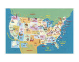 USA States and Capitals Schilderijen van Janell Genovese
