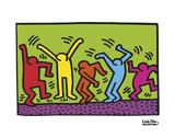 Untitled, 1987 (dance) 高画質プリント : キース・ヘリング