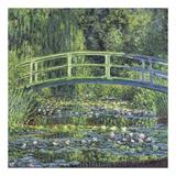 Water Lily Pond, 1899 (blue) Kunst af Claude Monet