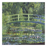 Water Lily Pond, 1899 (blue) Posters by Claude Monet