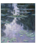 Water Lilies (Nympheas), 1907 Print by Claude Monet
