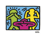 Untitled, 1989 (no evil) Poster van Keith Haring