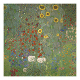 Farm Garden with Sunflowers, around 1905/1906 Plakater af Gustav Klimt