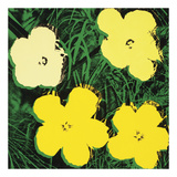 Flowers, 1970 (4 yellow) Stampe di Andy Warhol