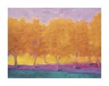 Gelbe Bäumen Poster von Wolf Kahn