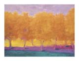 Yellow Trees Giclée-tryk af Wolf Kahn