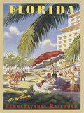 Florida Go by Train Prints by  Vintage Poster