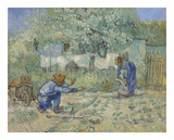 First Steps - After Millet, 1890 アート : フィンセント・ファン・ゴッホ