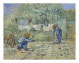First Steps - After Millet, 1890 Arte por Vincent van Gogh
