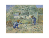 First Steps - After Millet, 1890 Kunstdrucke von Vincent van Gogh