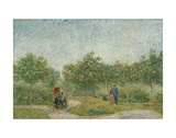Garden with Courting Couples: Square Saint-Pierre, 1887 Print by Vincent van Gogh