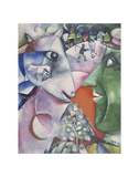 I and the Village, 1911 Poster av Marc Chagall