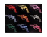 Gun, c. 1982 (many/rainbow) Prints by Andy Warhol