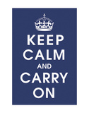 Keep Calm (navy) Poster
