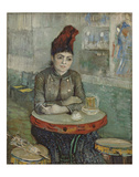 In the Cafe: Agostina Segatori in Le Tambourin, 1887 Kunst av Vincent van Gogh