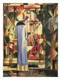 Large Bright Showcase Prints by August Macke