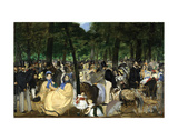Music in the Tuileries, 1862 Print by Edouard Manet