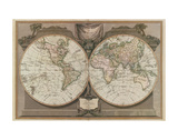 New Map of the World Plakater av  Vintage Reproduction