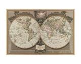Nuova mappa del mondo Poster di  Vintage Reproduction
