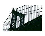 Manhattan Bridge Silhouette Posters par Erin Clark