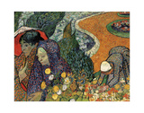 Memory of the Garden at Etten (Ladies of Arles), 1888 Kunst av Vincent van Gogh