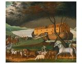 Noah's Ark, 1846 Posters af Edward Hicks