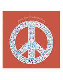 Peace, Love, and Understanding Poster di Erin Clark