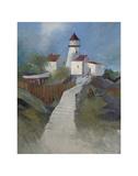 Chemin vers le phare Poster par Albert Swayhoover