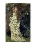 Ophelia, ca. 1865 Prints by Arthur Hughes
