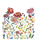 Nouveau Boheme - Wildflower Garden Print by Kiana Mosley